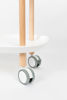 Picture of Nancy's Tanaina Trolley - Industrial - White, Natural - Polypropylene, Wood, Iron - 57.5 cm x 57.5 cm x 37 cm